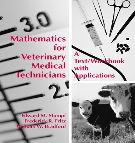 Mathematics for Veterinary Medical Technicians  2003 edition cover