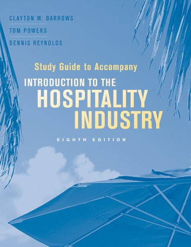Introduction to the Hospitality Industry  8th 2012 (Guide (Pupil's)) 9781118004432 Front Cover