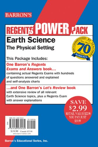 Earth Science The Physical Setting Power Pack  2017 edition cover