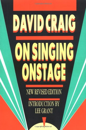 On Singing Onstage  2nd (Revised) edition cover