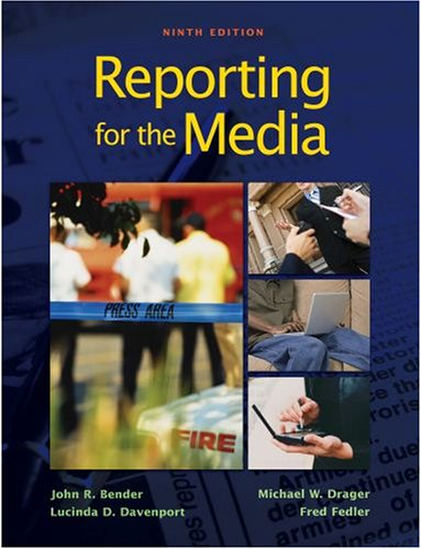 Reporting for the Media  9th 2009 edition cover