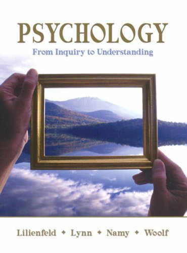 Psychology From Inquiry to Understanding  2009 edition cover