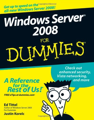 Windows Server 2008 for Dummies   2008 edition cover