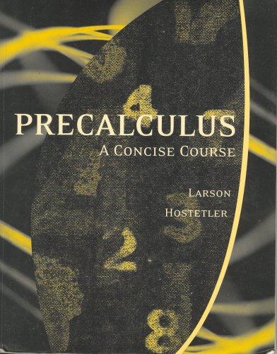 PRECALCULUS,CONCISE COURSE >CU 1st 9780618818433 Front Cover