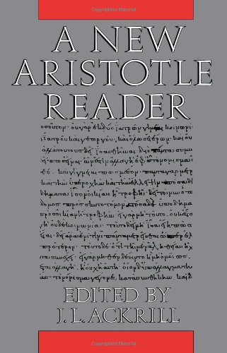 New Aristotle Reader   1988 edition cover
