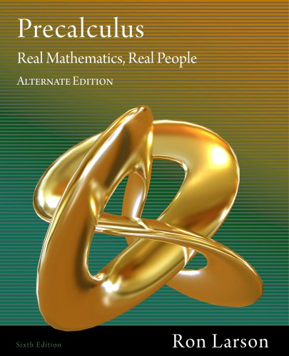 Precalculus Real Mathematics, Real People 6th 2012 (Alternate) edition cover