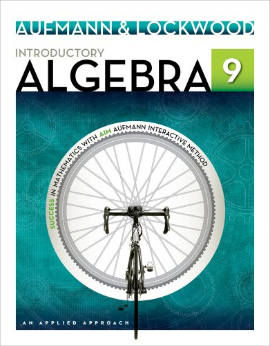 Introductory Algebra An Applied Approach 9th 2014 edition cover