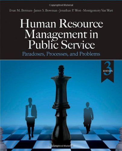 Human Resource Management in Public Service Paradoxes, Processes, and Problems 3rd 2010 edition cover