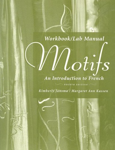 Motifs An Introduction to French 4th 2007 (Lab Manual) 9781413030433 Front Cover
