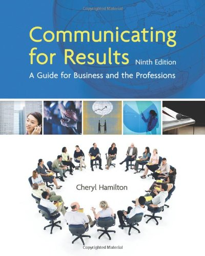 Communicating for Results A Guide for Business and the Professions 9th 2011 edition cover