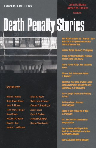 Death Penalty Stories   2009 edition cover