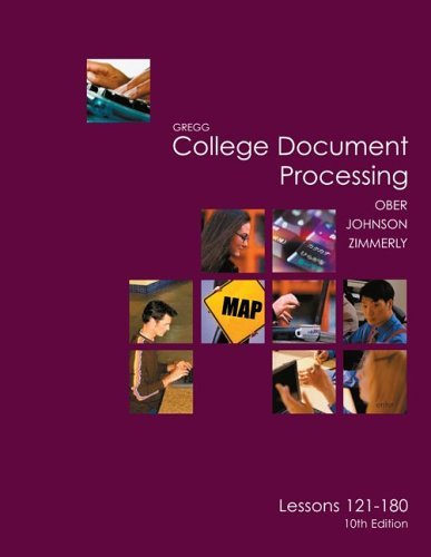 Gregg College Keyboarding and Document Processing (GDP), Lessons 121-180 Text  10th 2006 edition cover