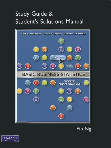 Student Solutions Manual for Basic Business Statistics  12th 2012 edition cover