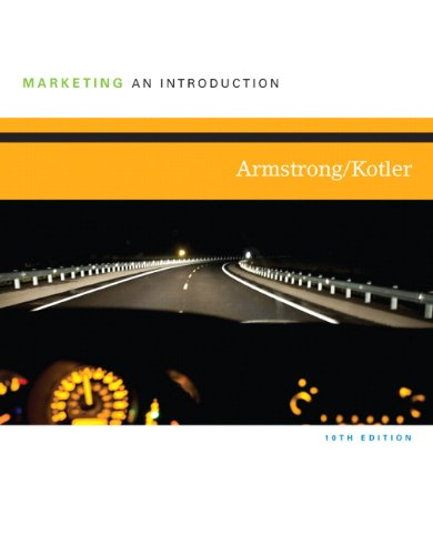 Marketing An Introduction 10th 2011 edition cover