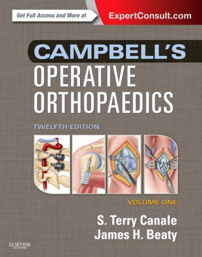 Campbell's Operative Orthopaedics 4-Volume Set (Expert Consult Premium Edition - Enhanced Online Features and Print) 12th 2012 edition cover