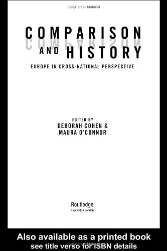 Comparison and History Europe in Cross-National Perspective  2004 edition cover