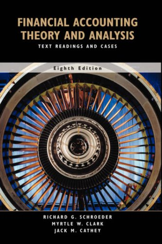 Financial Accounting Theory and Analysis Text Readings and Cases 8th 2005 (Revised) 9780471652434 Front Cover