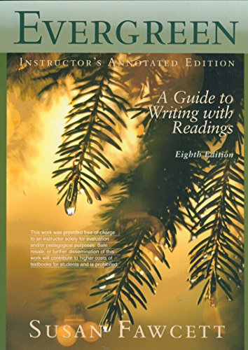 Evergreen A Guide to Writing with Readings 8th 2007 9780618879434 Front Cover
