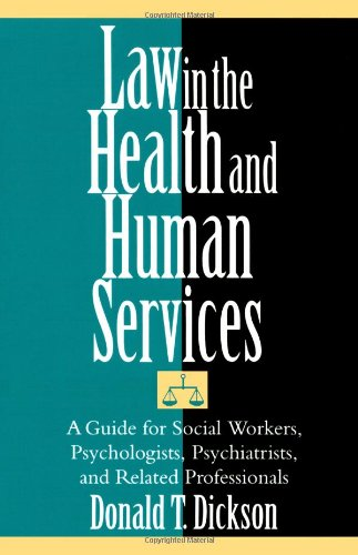 Law in the Health and Human Services   2004 edition cover