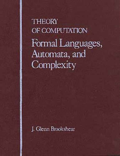 Introduction to Formal Languages, Computability and Complexity   1989 edition cover
