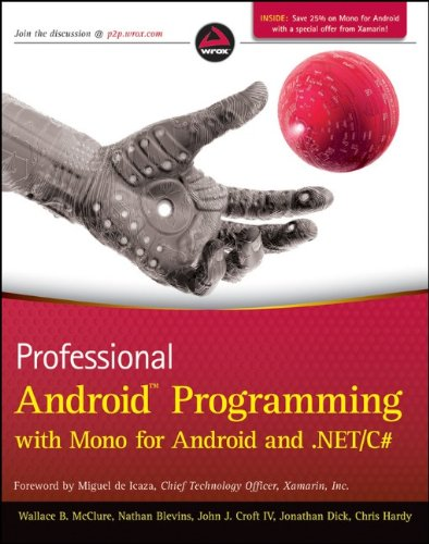 Professional Android Programming with Mono for Android and . Net/C#   2012 edition cover