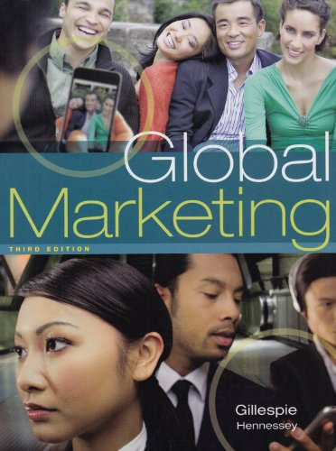 Global Marketing  3rd 2011 9781439039434 Front Cover