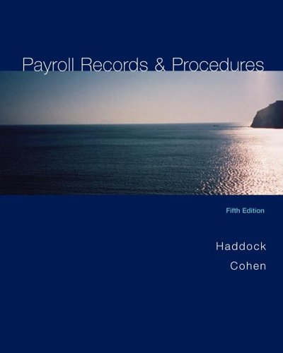 Payroll Records and Procedures  5th 2006 edition cover