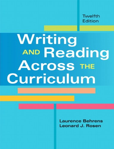 Writing and Reading Across the Curriculum  12th 2013 edition cover
