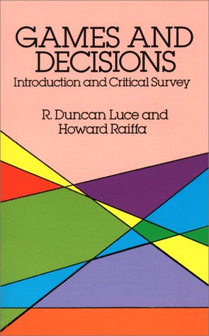 Games and Decisions Introduction and Critical Survey  1989 edition cover