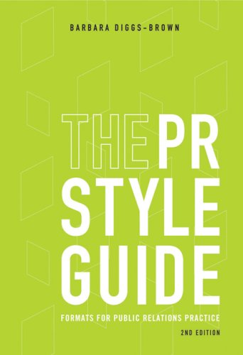 PR Styleguide Formats for Public Relations Practice 2nd 2007 (Revised) 9780495006435 Front Cover