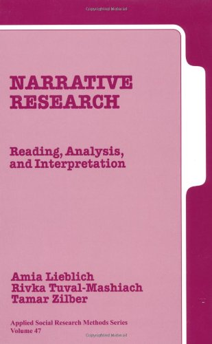 Narrative Research Reading, Analysis, and Interpretation  1998 edition cover