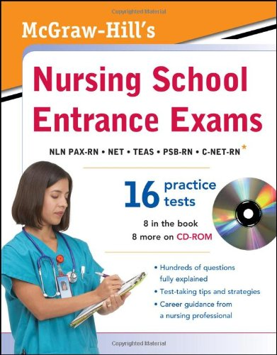 McGraw-Hill's Nursing School Entrance Exams with CD-ROM   2012 edition cover