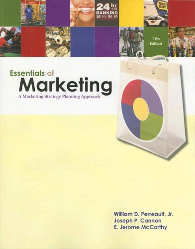 Essentials of Marketing A Marketing Strategy Planning Approach 11th 2008 edition cover