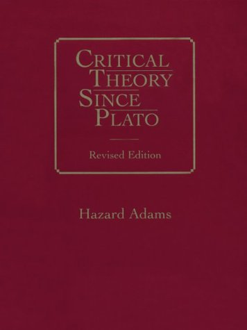 Critical Theory since Plato  2nd 1992 (Revised) edition cover