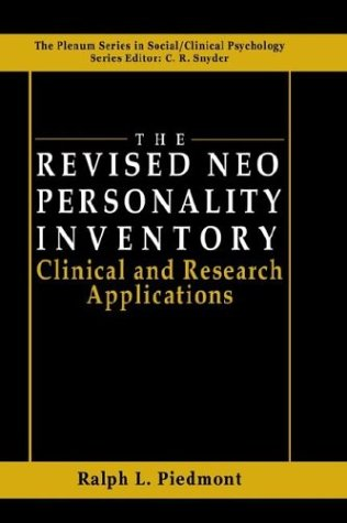 Revised NEO Personality Inventory Clinical and Research Applications  1998 9780306459436 Front Cover