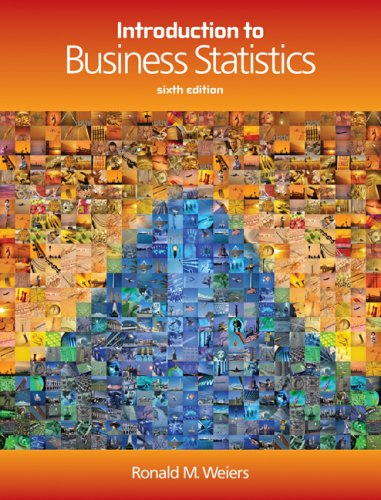 Introduction to Business Statistics  6th 2008 (Student Manual, Study Guide, etc.) edition cover