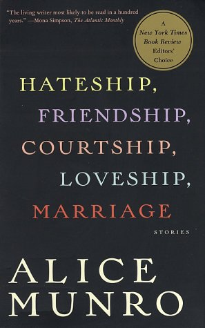 Hateship, Friendship, Courtship, Loveship, Marriage Stories  2001 edition cover