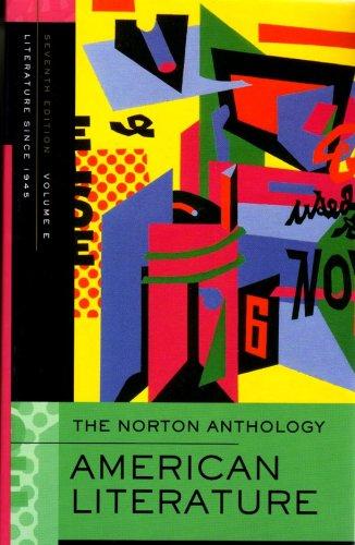 Norton Anthology of American Literature 7e V E  7th 2007 edition cover