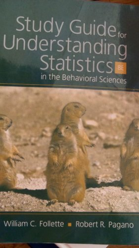 Study Guide for Understanding Statistics in the Behavioral Sciences  8th 2007 edition cover