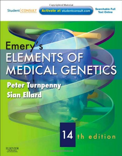Emery's Elements of Medical Genetics With STUDENT CONSULT Online Access 14th 2011 edition cover