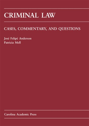 Criminal Law Cases, Commentary and Questions N/A edition cover