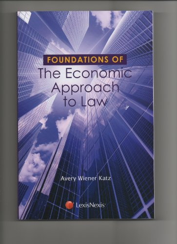 Foundations of the Economic Approach to Law:   2012 edition cover