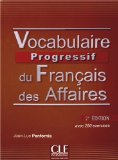 Vocabulaire progressif du francais des affaires 2eme edition: Livre + CD a  0 edition cover