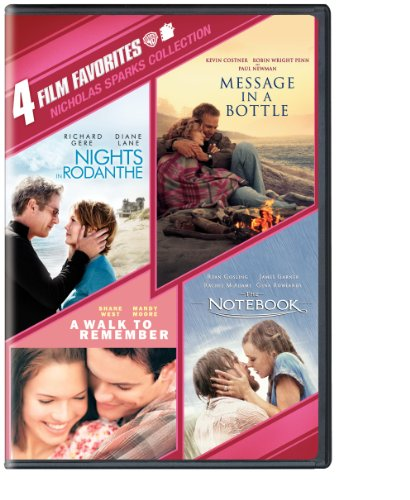 4 Film Favorites: Nicholas Sparks (Message in a Bottle, Nights in Rodanthe, The Notebook, A Walk to Remember) System.Collections.Generic.List`1[System.String] artwork