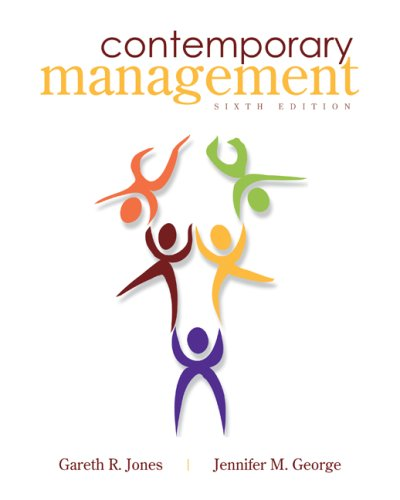 Contemporary Management  6th 2009 edition cover