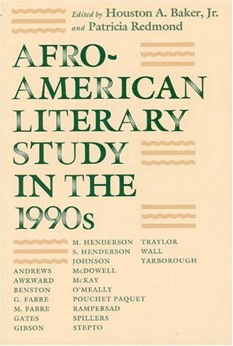 Afro-American Literary Study in the 1990s  N/A edition cover