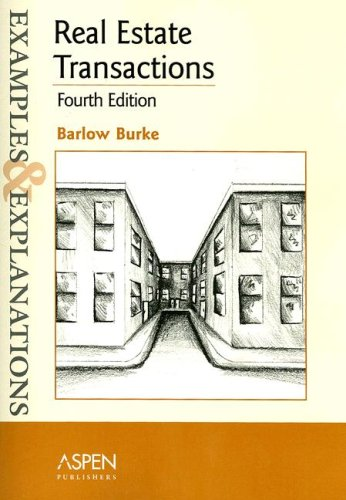 Real Estate Transactions  4th 2006 (Student Manual, Study Guide, etc.) 9780735557437 Front Cover