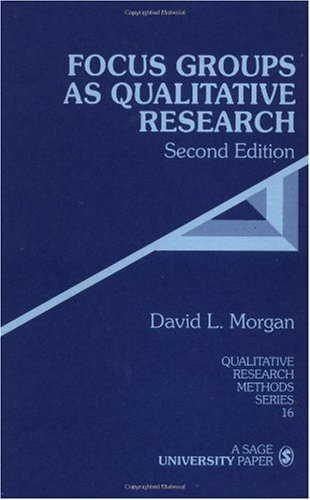 Focus Groups as Qualitative Research  2nd 1996 edition cover