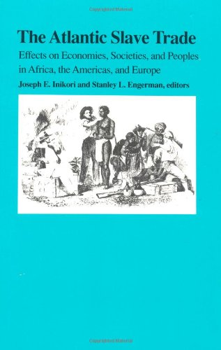 Atlantic Slave Trade Effects on Economies, Societies, and Peoples in Africa, the Americas, and Europe  1992 edition cover
