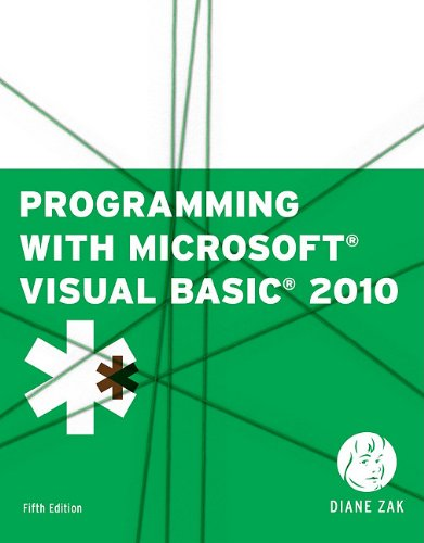 Programming with Microsoft Visual Basic 2010  5th 2012 edition cover